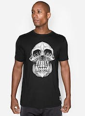Chimp Skull Bamboo T-Shirt Hero Image
