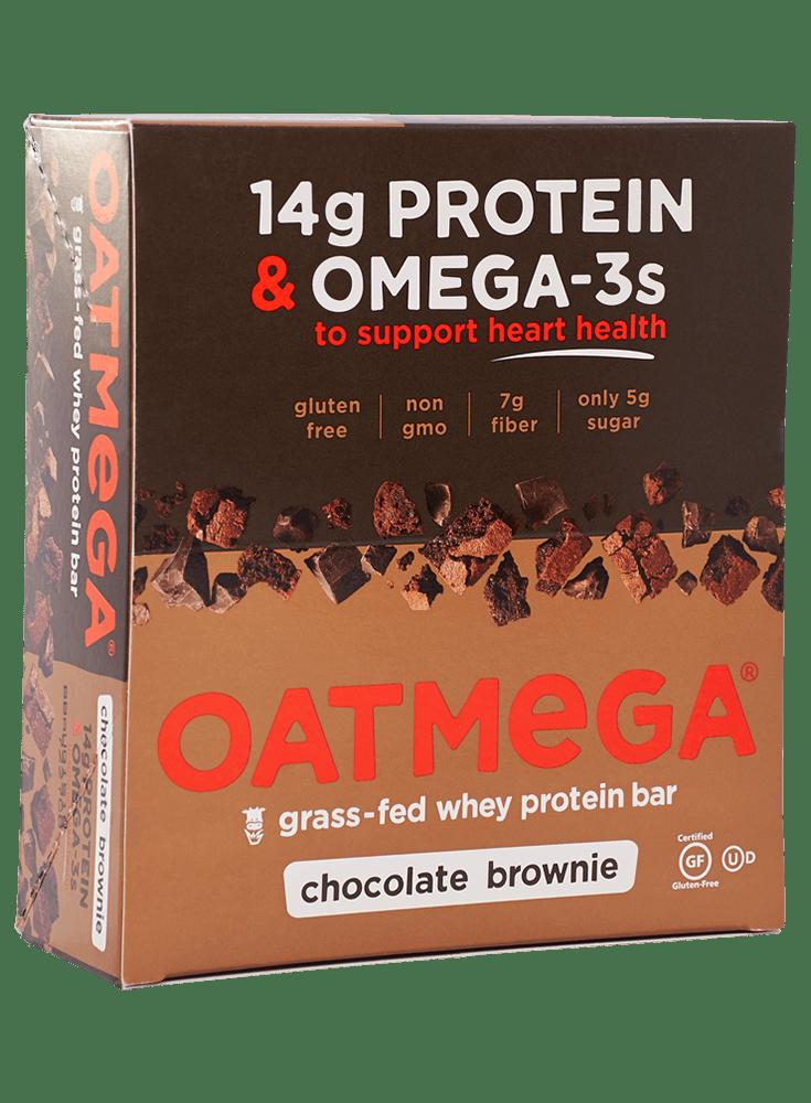Oatmega Brownie Crisp Protein Bar (Box of 12)