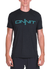 Onnit Type Tri-Blend T-Shirt Black Heather/Turquoise