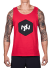 Hex Two-Tone Tank Top Red/Black
