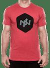 Hex Two-Tone Tri-Blend T-Shirt Red/Black