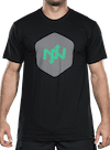Hex Two-Tone T-Shirt Black/Green