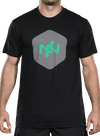 Hex Two-Tone T-Shirt Black/Green