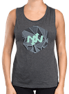 Hex Deco Muscle Tee Gray Heather/Mint