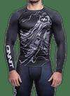 Onnit Swirl LS Compression Rashguard Black/Gray