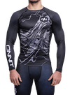 Onnit Swirl LS Compression Rashguard Black/Gray