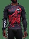Onnit Swirl LS Compression Rashguard Black/Red