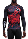 Onnit Swirl LS Compression Rashguard Black/Red