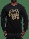 Tiger Charge Crew Sweatshirt Black/Gold