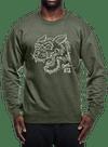 Tiger Charge Crew Sweatshirt Olive/Gray