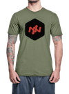 Hex Two-Tone T-Shirt Olive/Black
