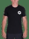 Hex Halftone T-Shirt Black/White