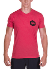 Hex Halftone T-Shirt Red Heather/Black