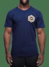 Psych Hex T-Shirt Navy/Gold