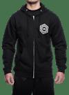 Psych Hex Zip Hooded Sweatshirt Black/Gray