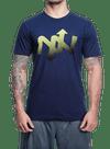 Helix Fade T-Shirt Navy/Yellow