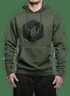 Hex HD Hooded Sweatshirt Olive Heather/Black