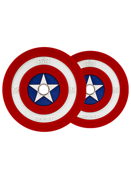 Captain America Shield Barbell Plates