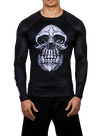 Chimp Skull LS Compression Rashguard Black/White