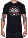 10th Planet Topography T-Shirt Black/Red