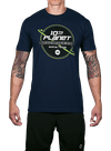 10th Planet Topography T-Shirt Navy/Green