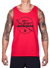 10th Planet Orbit Tank Top Red/Black