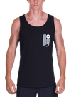 Banner Tank Top Black/White
