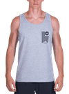 Banner Tank Top Gray Heather/Black