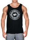 Geo Circle Tank Top Black/White