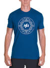 Geo Circle T-Shirt Cool Blue/White