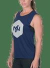 Hex Tonal Muscle Tee Heather Navy/Gray