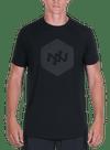 Hex Tonal Bamboo T-Shirt Black/Black