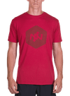 Hex Tonal Bamboo T-Shirt Red/Red