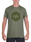 Hex Tonal Bamboo T-Shirt Olive/Olive