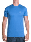 Pure Flow Tech Tee Blue Heather