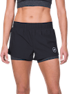 Sunny Day Performance Shorts w/ Compression Black/Charcoal Heather
