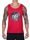 Hex Broken Waves Tank Top Red