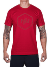 Hex HD Outline T-Shirt Red
