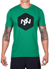 Hex Two-Tone T-Shirt Kelly Green/Black