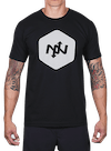 Hex Two-Tone T-Shirt Black/Lt Gray