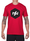 Hex Two-Tone T-Shirt Red/Black