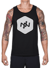 Hex Two-Tone Tank Top Black/Lt Gray