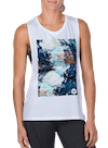 Abstract Rock Muscle Tee White