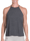 Onnit Minimal Flowy High Neck Tank Charcoal Heather/Gray