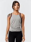 Onnit Minimal Flowy High Neck Tank Stone Heather/Gray