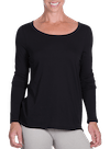 Onnit Minimal LS Droptail Top Black/Gray