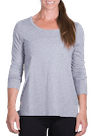 Onnit Minimal LS Droptail Top Gray Heather/ White