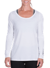 Onnit Minimal LS Droptail Top White/Charcoal