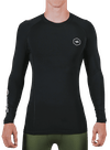 Virus x Onnit Stay Cool L/S Crew Neck Rashguard Black/Silver