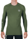 Virus x Onnit Stay Cool L/S Crew Neck Rashguard Olive/Black